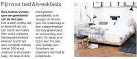 Fijn voor bed & breakfasts