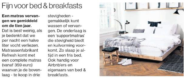Fijn voor bed & breakfasts